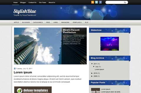 stylishblue-blogger-template