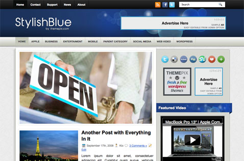 stylishblue-wordpress-theme