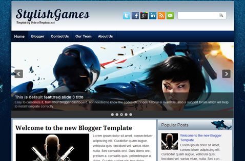 stylishgames-blogger-template