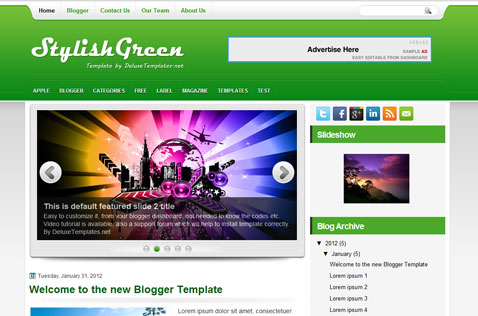 stylishgreen-blogger-template