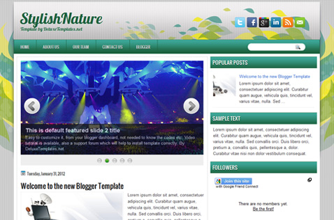 stylishnature-blogger-template