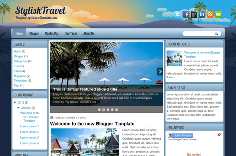 stylishtravel-blogger-template