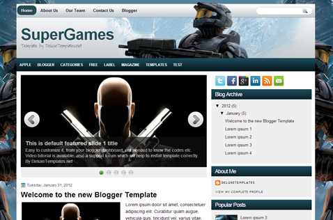 supergames-blogger-template