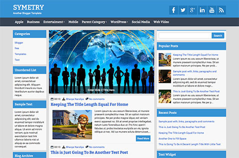 symetry-blogger-template