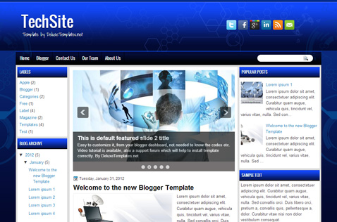 techsite-blogger-template