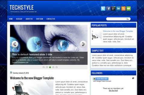 techstyle-blogger-template