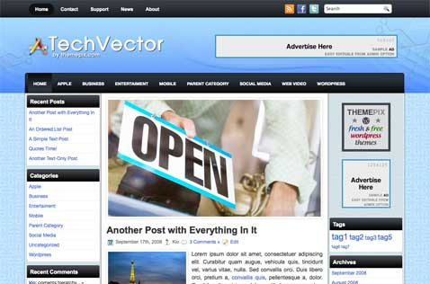 techvector-wordpress-theme
