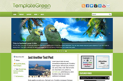 templategreen-wordpress-theme