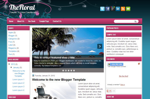 thefloral-blogger-template