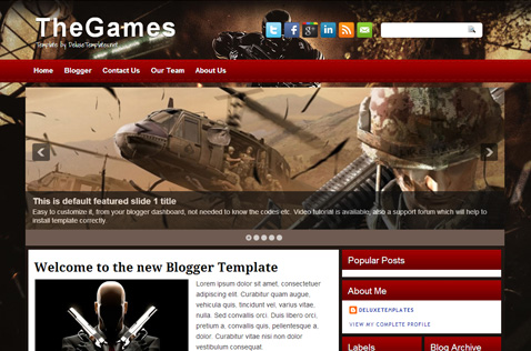 thegames-blogger-template