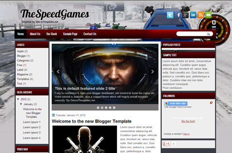 thespeedgames-blogger-template