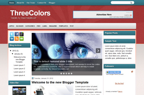threecolors-blogger-template