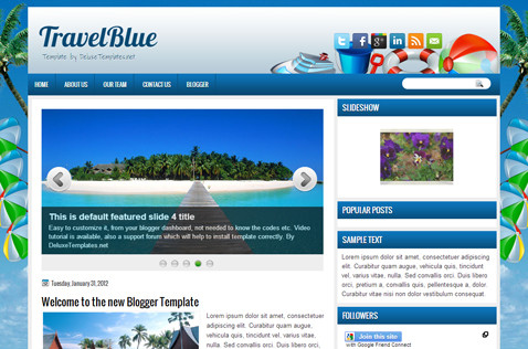 travelblue-blogger-template