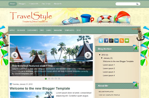 travelstyle-blogger-template