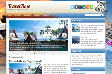 traveltime-blogger-template
