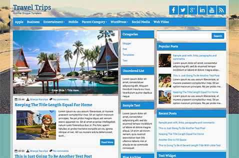 Travel blogger templates deluxetemplates traveltips blogger template pronofoot35fo Images