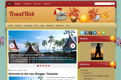 travelweb-blogger-template