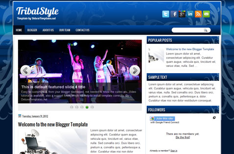 tribalstyle-blogger-template