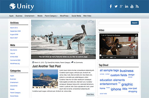 unity-wordpress-theme