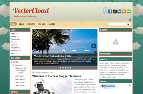 vectorcloud-blogger-template