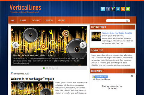 verticallines-blogger-template