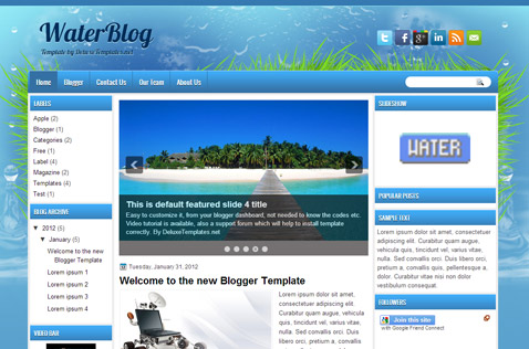 waterblog-blogger-template