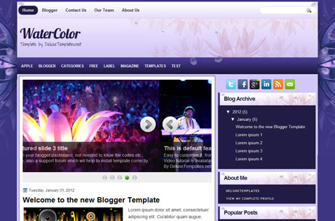 watercolor-blogger-template