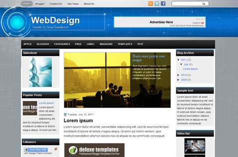 webdesign-blogger-template