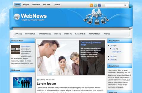 webnews-blogger-template