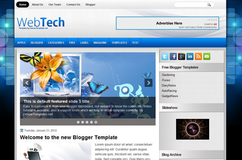 webtech-blogger-template