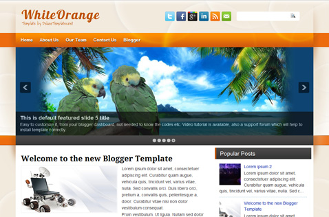 whiteorange-blogger-template