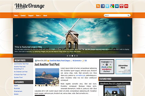 whiteorange-wordpress-theme