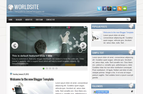 worldsite-blogger-template