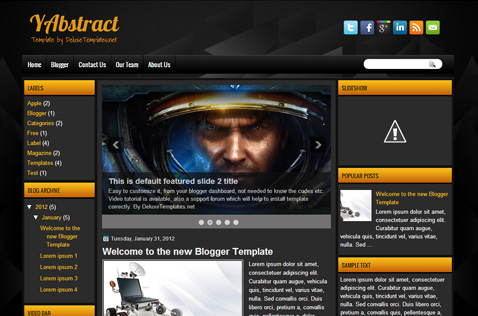 yabstract-blogger-template