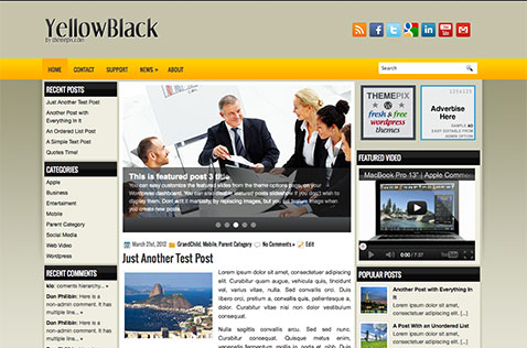 yellowblack-wordpress-theme