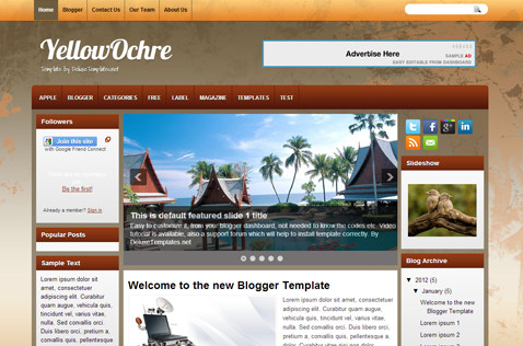 yellowochre-blogger-template