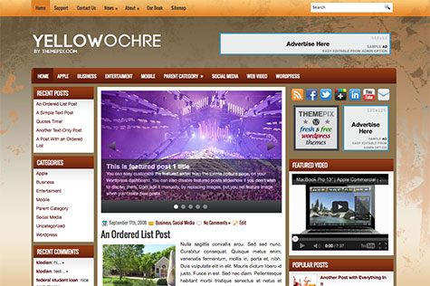 yellowochre-wordpress-theme